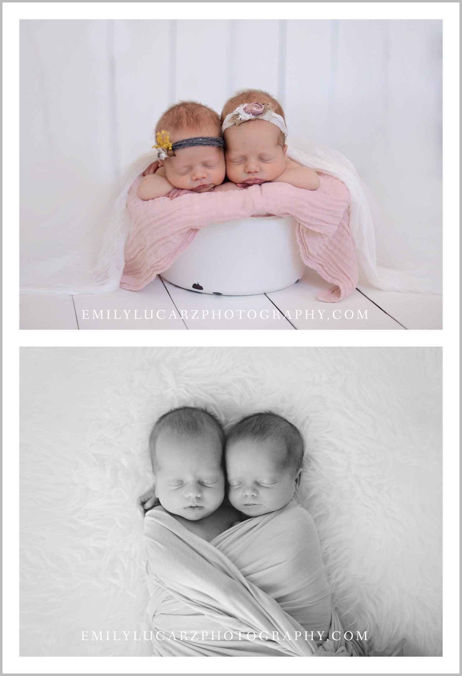 St. Louis newborn twin photography