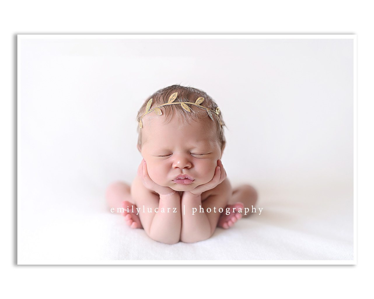 frog pose natural light newborn photography