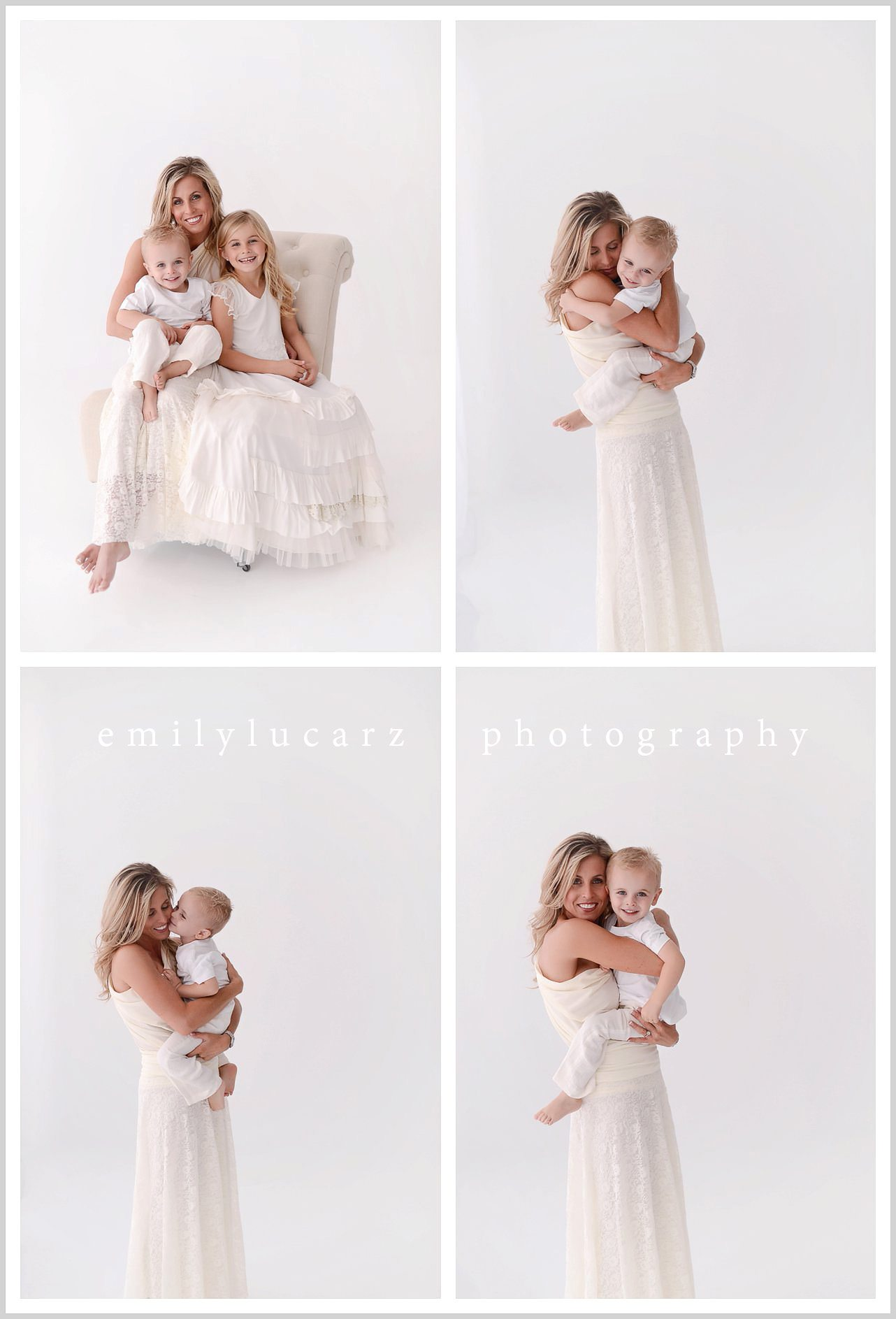 mommy session in studio natural light
